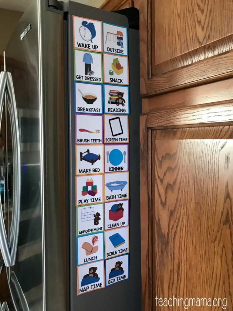 Image result for examples of visual supports for kids